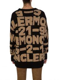 Black/Brown Maglione Tricot Cardigan