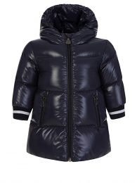 Navy Hooded Puffa Coat