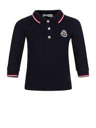 Navy Long-Sleeved Polo Shirt