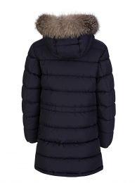 Navy Blue Fur Puffer Coat
