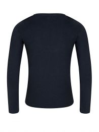 Navy Long-Sleeved Logo T-Shirt
