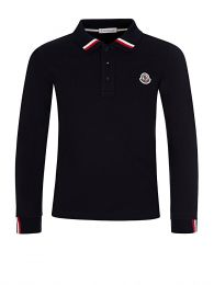 Navy Long-Sleeved Polo Shirt