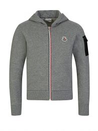 Hooded Grey Zip-Through Tracksuit