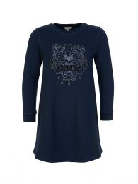 Navy Tiger Sweatshirt Dress