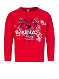 Red Tiger Flower Sweatshirt