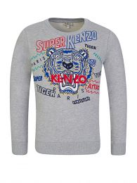 Grey Super Kenzo Tiger Sweatshirt