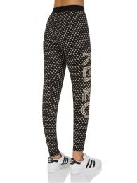Black Logo 'Ikat' Leggings