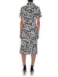 Black/White Deborah Midi Dress