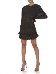 Di Lorenzo Serafini Black Crystal Embellished Dress
