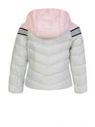 White/Pink Stripe Puffa Marika Jacket