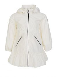 Cream Geranium Hooded Coat