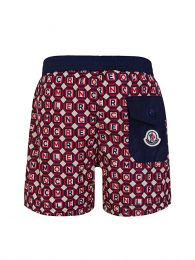 Red/Navy Printed Swim Shorts