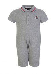 Grey Polo Babygrow