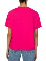 Pink Metallic Logo T-Shirt
