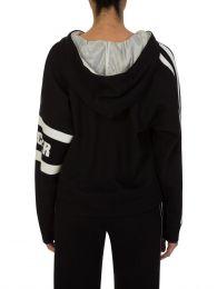 Black Sleeve Logo Hoodie