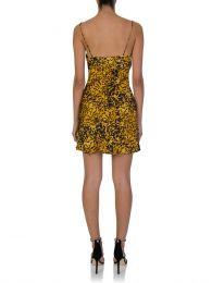 Tortoise Print Turtle Rock Silk Mini Dress
