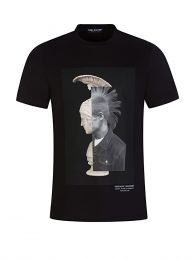 Black Mohawk Warrior Print T-Shirt