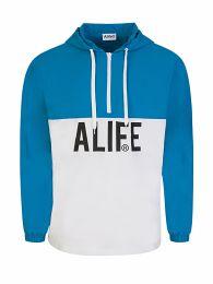 White/Blue Half-Zip Track Jacket