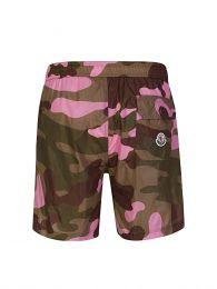 Pink Camouflage Swim Shorts