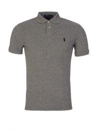 Grey Slim Fit Mesh Polo Shirt