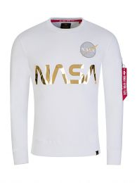 White NASA Reflective Sweatshirt