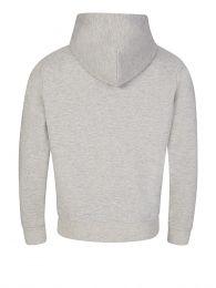 Grey Double-Knitted Full-Zip Hoodie