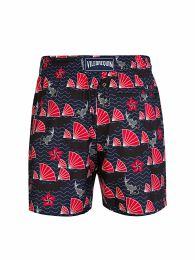 Navy Fan Swim Shorts