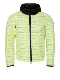 Green Hooded Logo Puffer Jacket