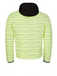 Green Hooded Logo Puffer Jacket