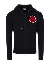 Navy Logo Zip-Through Hoodie