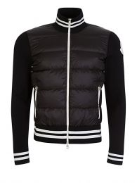 Black Puffa Zip Sweatshirt Jacket