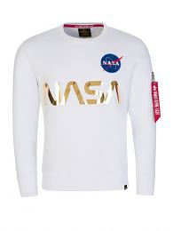 White NASA Gold Reflective Sweatshirt