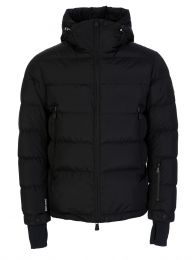 Black Isorno Padded Hooded Logo Puffer Jacket