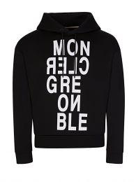 Black Grenoble Logo Hoodie