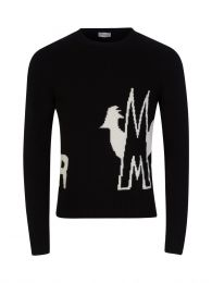 Black Logo Crew Neck Knitted Jumper