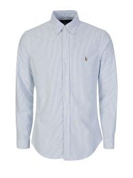 Slim Fit Sky Blue Stripe Shirt