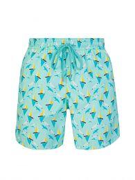 Turquoise Lagoon Print Swim Shorts