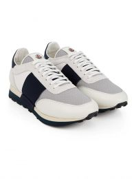 White & Navy Horace Trainers