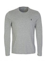 Grey Cotton Jersey Crewneck T-Shirt