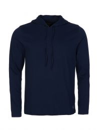 Navy Cotton-Blend Sleep Hoodie
