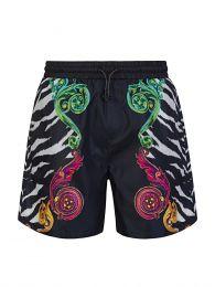Black Tiger Baroque Swim Shorts