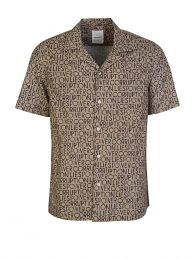 Brown Brandon Allover Pattern Shirt