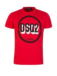 Red 3D Graphic Logo T-Shirt