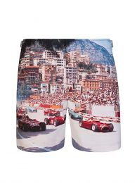 White Start Your Engines Swim Shorts