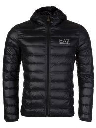 Black Hooded Puffa Jacket