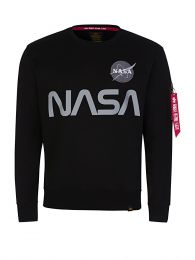 Black NASA Silver Reflective Sweatshirt