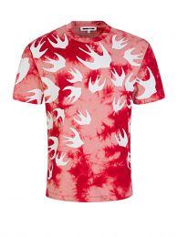 Red Tie-Dye Swallows T-Shirt