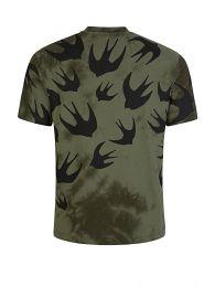 Green Tie-Dye Swallows T-Shirt