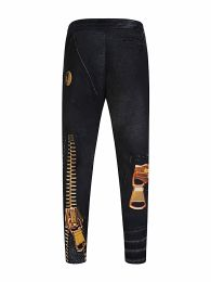 Black Belt Print Sweatpants