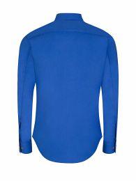 Blue Slim-Fit Organic Popeline Shirt